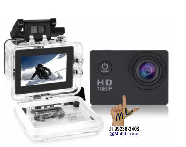 Camera Sports Hd Dv 1080p Filmadora Portátil À Prova D'agua Full Hd Dv 30m - Foto 4