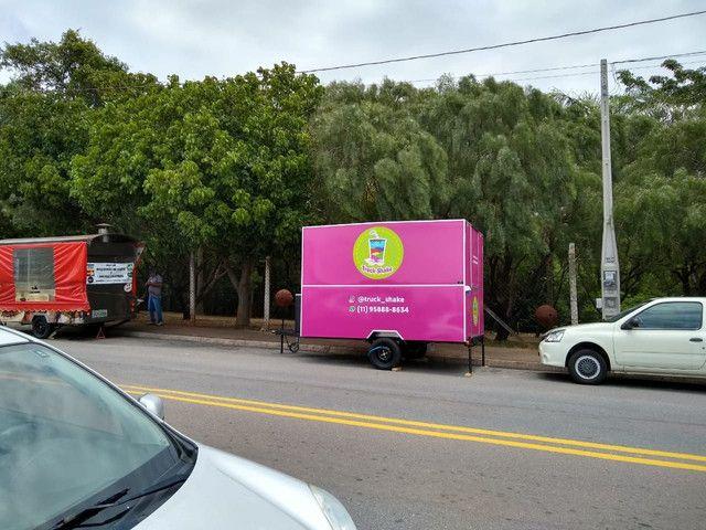 trailer food truck padrão semi novo milkshake açaí lanche pastel churros está em Jundiaí