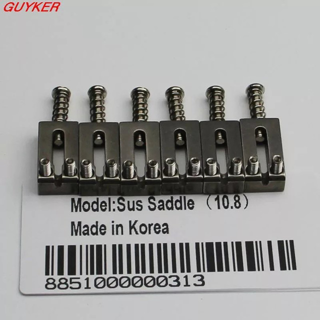 Saddles Carrinhos de Aço Inox Para Ponte Tremolo Guitarra 10,5mm