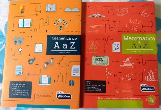 Combo Gramática e Matemática de A a Z Alfacon Concursos