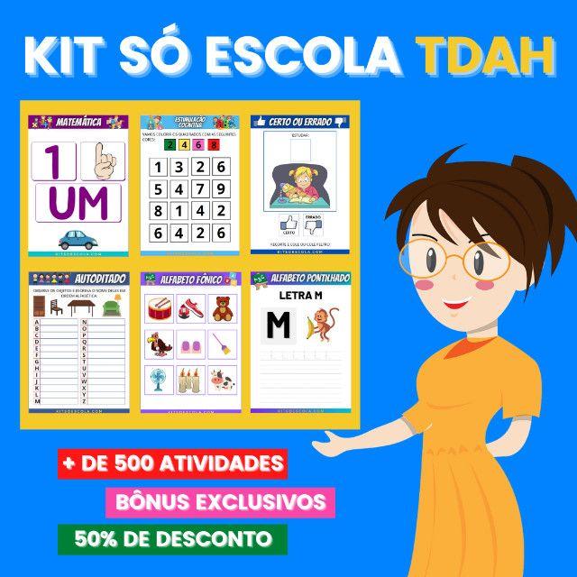 .:: Kit de Atividades ::. Kit T D A H - Foto 5