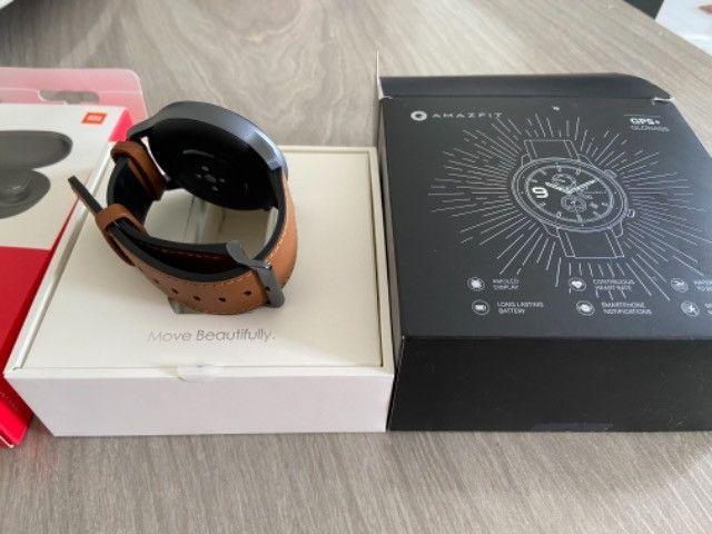 Relógio Amazfit GTR 47mm GPS + fone redmi airdots 2 Xiaomi, Ambos novos na Cx,originais - Foto 3