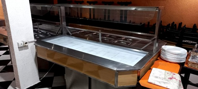 Mesa buffet conjugada luxo Jabur Refrigeração - Foto 3