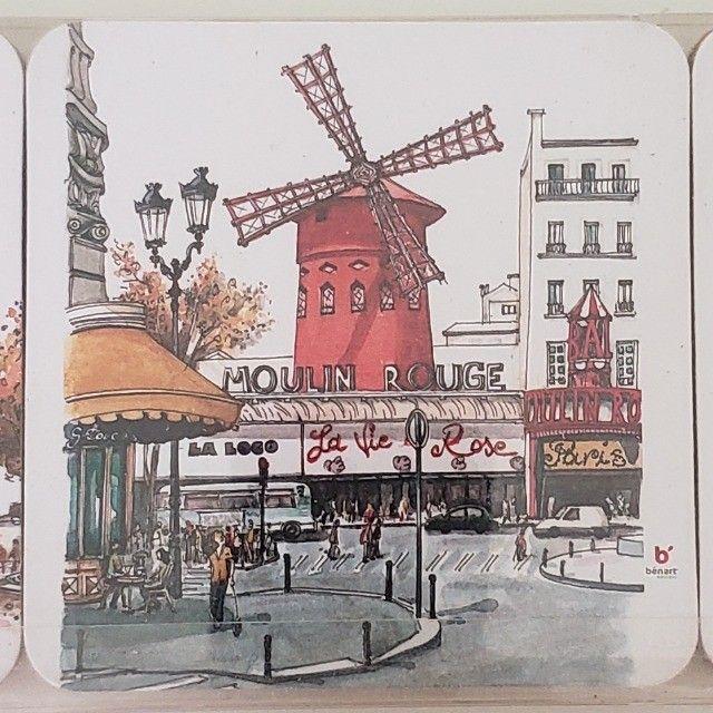 Porta Copos Cortiça com 6un Importado Paris França - Foto 5