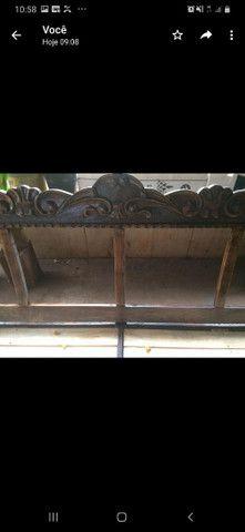 Sofá colonial madeira maciça  - Foto 3