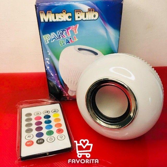 Lâmpada Caixa de Som Musical (entrega grátis) - Foto 5