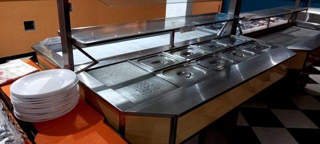 Mesa buffet conjugada luxo Jabur Refrigeração - Foto 4