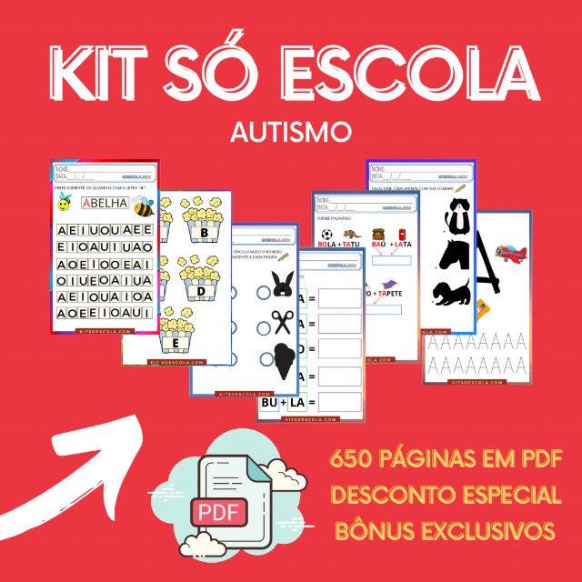 """.:: Kit de Atividades Alfabetização Infantil """"Autismo"""" :: - Foto 2"""