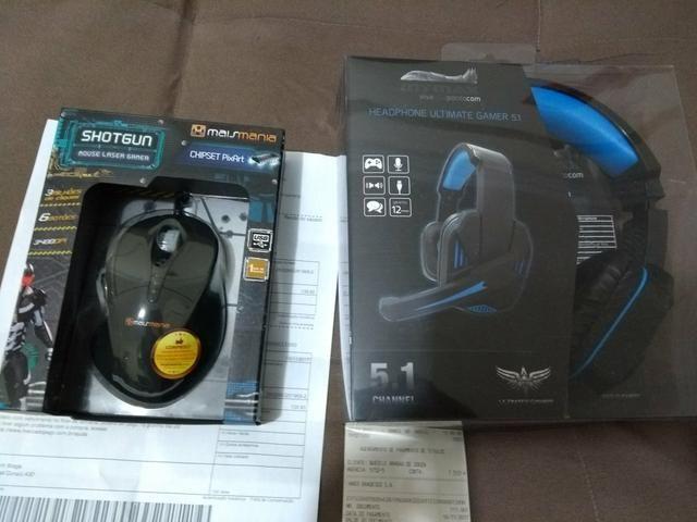 Mouse e Fone Gamer