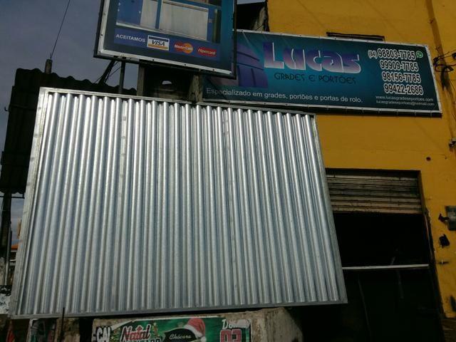 Portoes galvanizado 280x 210 apatia de 600 reais