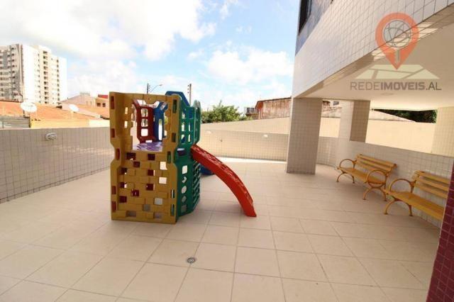Apartamento com 2 dormitórios à venda, 65 m² por R$ 350.000 - Jatiúca - Maceió/AL - Foto 3