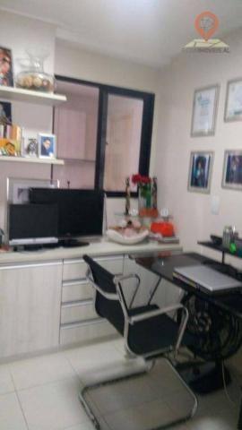 Apartamento com 2 dormitórios à venda, 110 m² por R$ 550.000 - Jatiúca - Maceió/AL - Foto 5