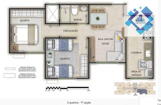 Apartamento Condomínio fechado de torres com elevador no Passaré
