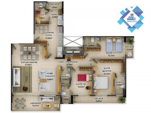 Apartamentos 158m² novo, pronto para morar na Aldeota! - Foto 16
