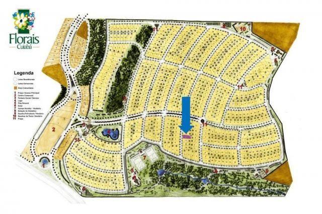 Terreno no Condomínio Florais Cuiabá  à venda, 532 m² por R$ 278.000 - Bairro ribeirão do  - Foto 4