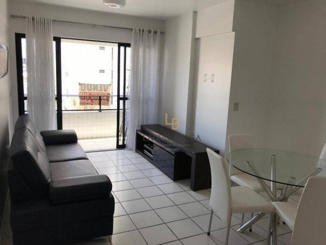 Apartamento com 3 dormitórios à venda, 76 m² por R$ 340.000 - Jatiúca - Maceió/AL - Foto 2