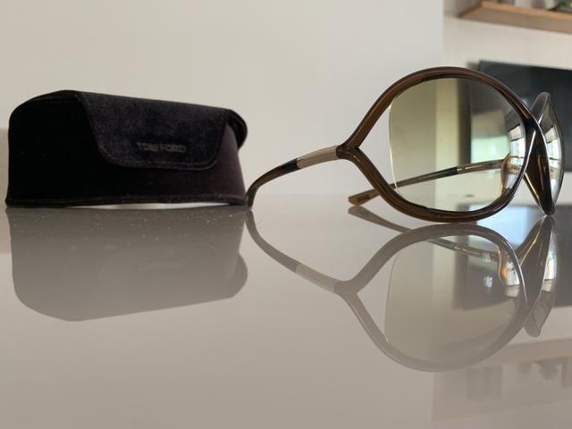 2668cb362aeea Óculos TOM FORD Modelo Acetato marrom Whitney original - Bijouterias ...