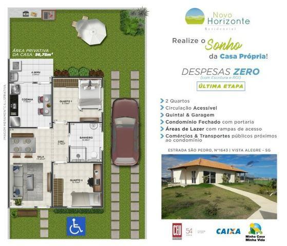 Lindas casas 02 qts padrão e Pne quintal garagem ótima localização transporte na porta - Foto 19