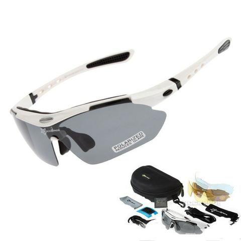 db4be1a14068b Óculos Rockbros Polarizado 5 Lentes Bike Bicicleta Ciclismo ...