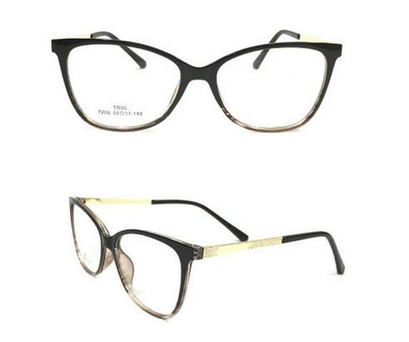 4b6aa2ab5977b Armação De Óculos Para Grau Feminino Tr90 7206 Super Leve ...