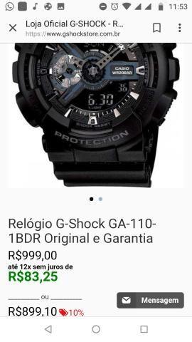 2e35a1456c57 Relógio G-SHOCK 110 1BDR ORIGINAL - Bijouterias