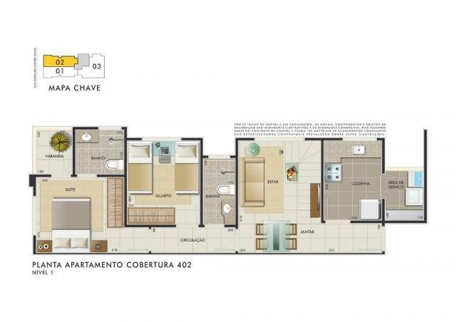 Apartamento com 3 dormitórios à venda, 112 m² por R$ 350.000 - Manacás - Belo Horizonte/MG - Foto 8