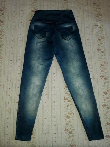 Calça Legging Cintura Alta Imita Jeans - Foto 4