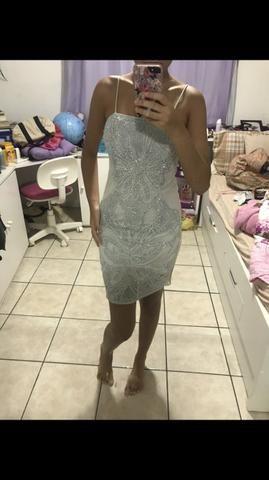 Vestido curto azul bobô - Foto 5