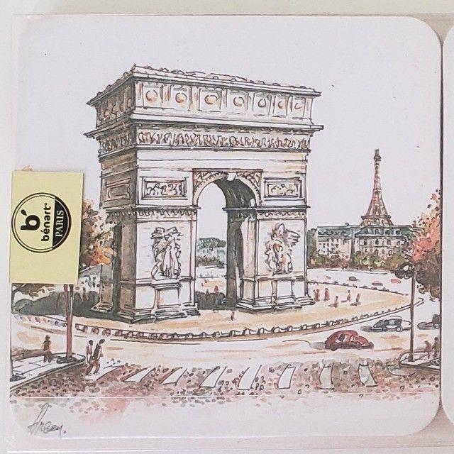 Porta Copos Cortiça com 6un Importado Paris França - Foto 4