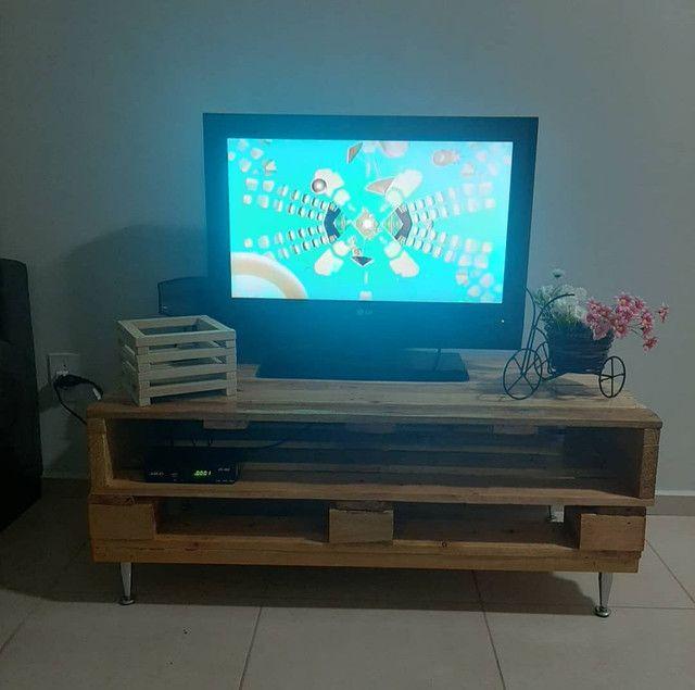Base para TV feita de palete  - Foto 2