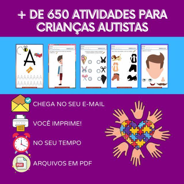 """.:: Kit de Atividades Alfabetização Infantil """"Autismo"""" :: - Foto 4"""