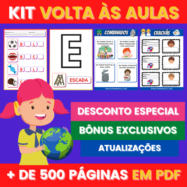.:: Kit de Atividades ::. Kit Volta as Aulas