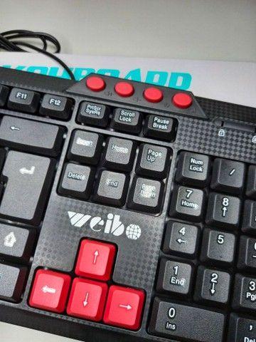 Teclado Gamer Weibo USB (NOVO)  - Foto 2