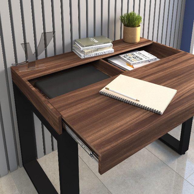Escrivaninha Home Office com Tampo Deslizante - Foto 2