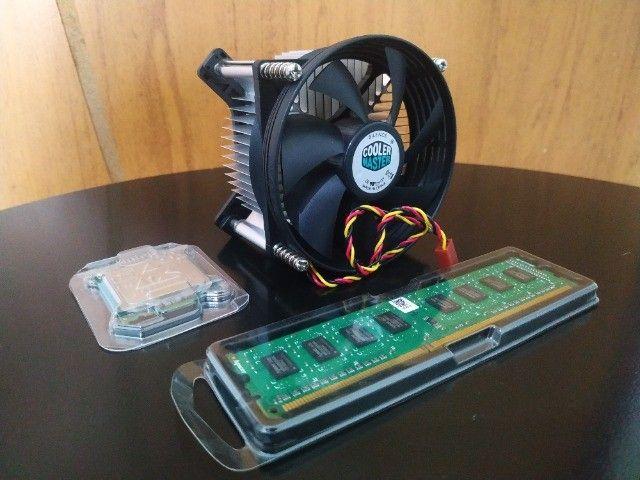 Kit processador Pentium e6700 LGA775, cooler box, memória ram 2gb ddr3