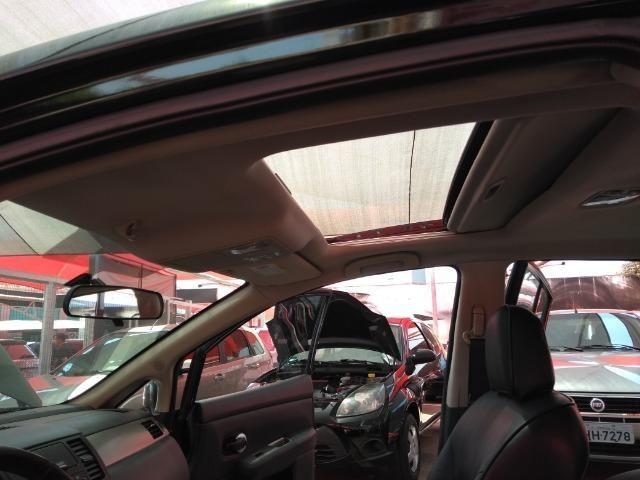 Nissan Tiida SL 1.8 2012/2013 Com Teto Solar Temos Golf Gol Palio Astra Polo Saveiro Civic - Foto 8