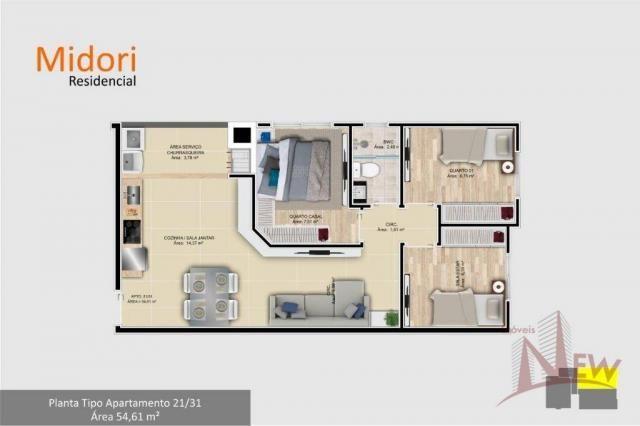 Apartamento 03 quartos no Parque da Fonte, São José dos Pinhais - Foto 14