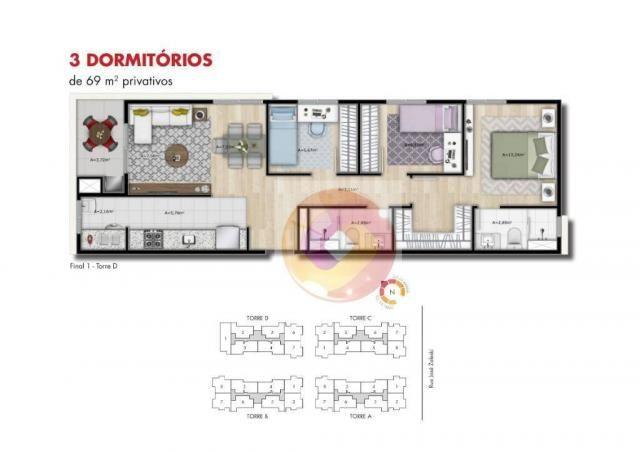 Apartamento com 2 dormitórios à venda, 51 m² por R$ 240.000,00 - Neoville - Curitiba/PR - Foto 12