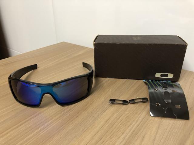 9791e116c3d0e Óculos Oakley Batwolf Black Ink polarizado - Pouco Uso