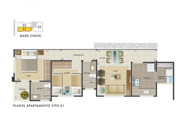 Apartamento com 3 dormitórios à venda, 112 m² por R$ 350.000 - Manacás - Belo Horizonte/MG - Foto 12