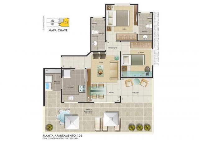 Apartamento com 3 dormitórios à venda, 112 m² por R$ 350.000 - Manacás - Belo Horizonte/MG - Foto 5