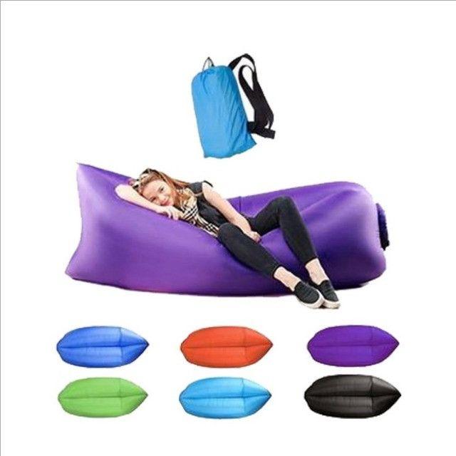 Inflável para camping praia área aberta para sentar ou deitar - Foto 3