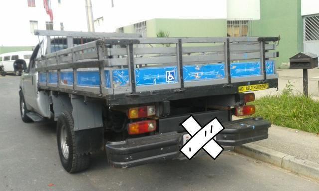 F250 99 diesel vendo ou troco em carro - Foto 3