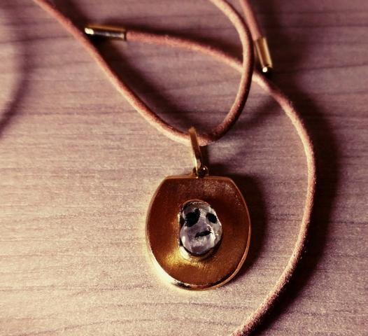 Pedra de coleção, pendente de ouro - Foto 3