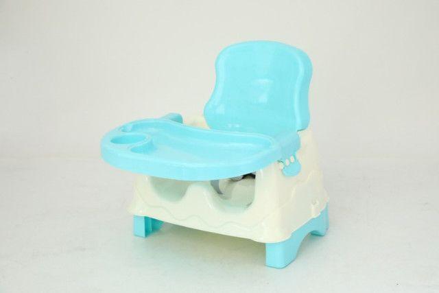 Cadeirinha Alimentação Bebê Booster Azul E Rosa - Foto 4