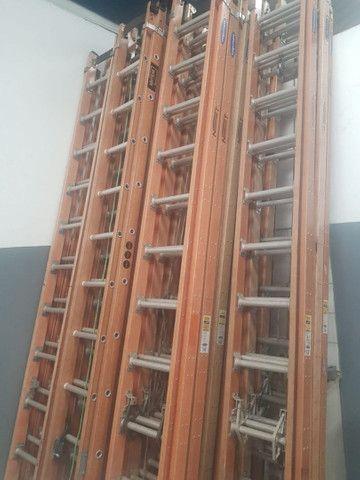 Escada extenciva em fibra e Almino 500REAIS  - Foto 4