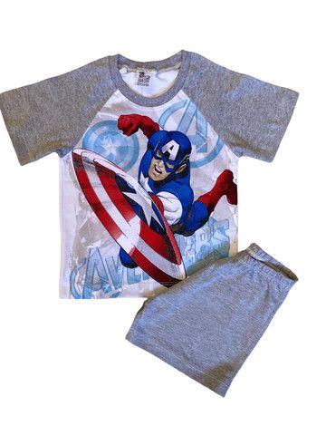 Pijama Infantil Capitão América - Calor - Foto 3