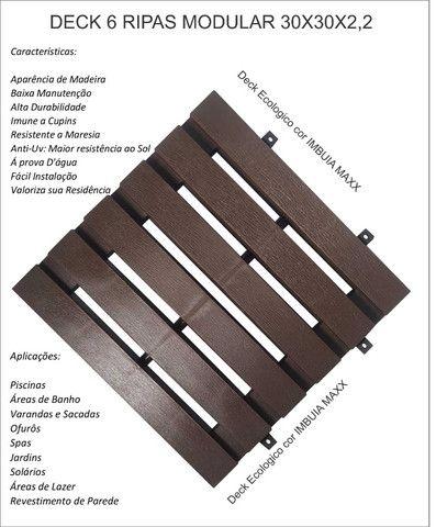 Deck piso modular 6 ripas cor imbuia