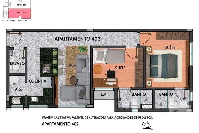 Apartamento à venda com 2 dormitórios em Anchieta, Belo horizonte cod:280097 - Foto 9
