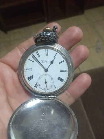 Relógio  bolso de Prata Zenith Grande Prix Paris 1900 - 3 tampas 15 rubis  - Foto 4